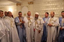 الوفد الفلسطيني مع العلامة الشيخ محمد الحسن ولد الددو