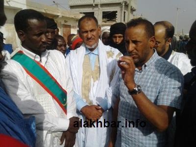جانب من زيارة الوفد البرلماني لحزب تواصل زوال اليوم لميناء خليح الراحة/ ، تصوير الأخبار