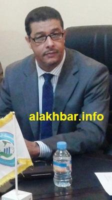 رئيس المجلس الجهوي لداخلت نواذيبو محمد المامي أحمد بزيد أثناء حديثه للأخبار