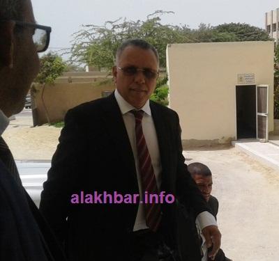 لحظة وصول رئيس اللجنة الوطنية لحقوق الإنسان إلى الولاية/ الأخبار