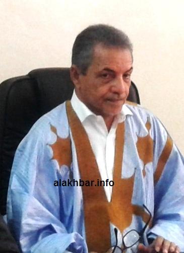 النائب العمدة القاسم ولد بلالي أمس في القصر البلدي/ الأخبار
