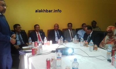 جانب من اجتماع وزير الصحة أمس في مصحة اسنيم / الأخبار