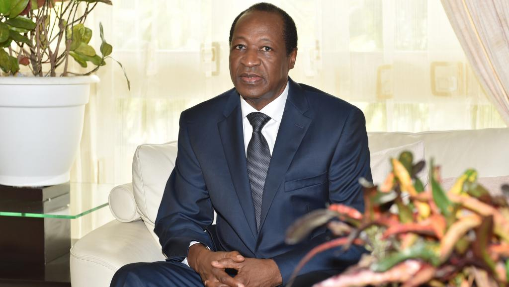 الرئيس البوركيني السابق ابليز كومباوري المقيم بالمنفى في ساحل العاج.