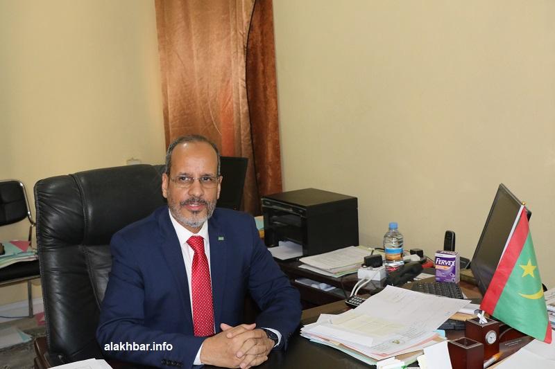 وزير التعليم الثانوي والتكوين التقني والمهني محمد ماء العينين ولد أييه خلال حديثه للأخبار