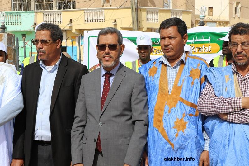 عمدة بلدية عرفات الحسن ولد محمد خلال إعلان انطلاقة الإحصاء اليوم