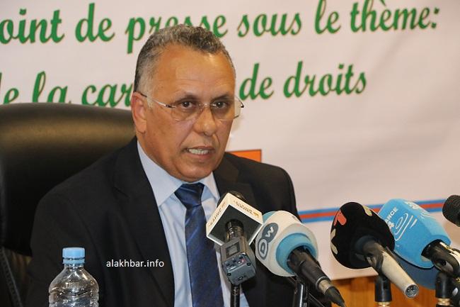 رئيس اللجنة الوطنية لحقوق الإنسان أحمد سالم ولد بوحبيني (الأخبار - أرشيف)