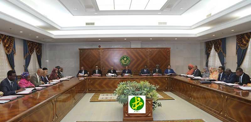 مجلس الوزراء الموريتاني خلال اجتماعه اليوم (وما)