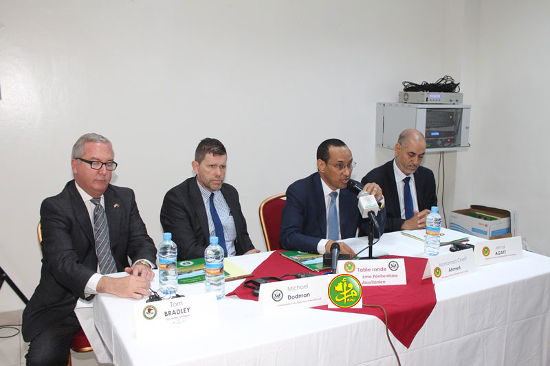 منصة افتتاح الورشة في نواكشوط اليوم (وما)