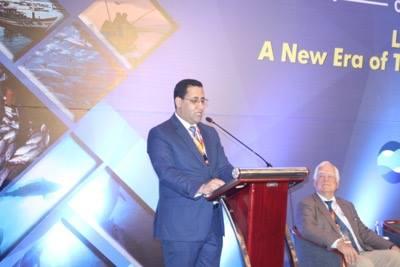 وزير الاقتصاد والمالية المختار ولد اجاي خلال كلمته في افتتاح المؤتمر اليوم في بالي بأندنوسيا