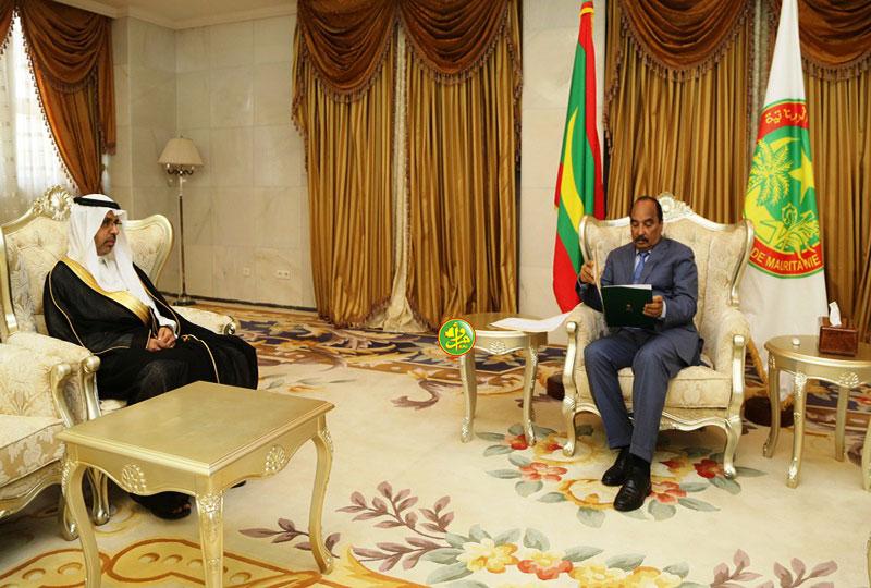 الرئيس ولد عبد العزيز يتسلم الرسالة الخطية من السفير السعودي في نواكشوط (وما)
