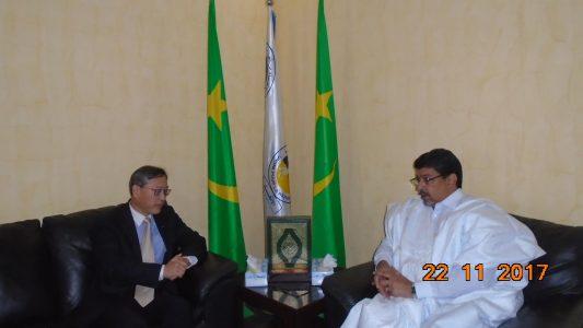 ولد محم خلال لقائه مع السفير الصيني في موريتانيا ازهانغ اجيانغو