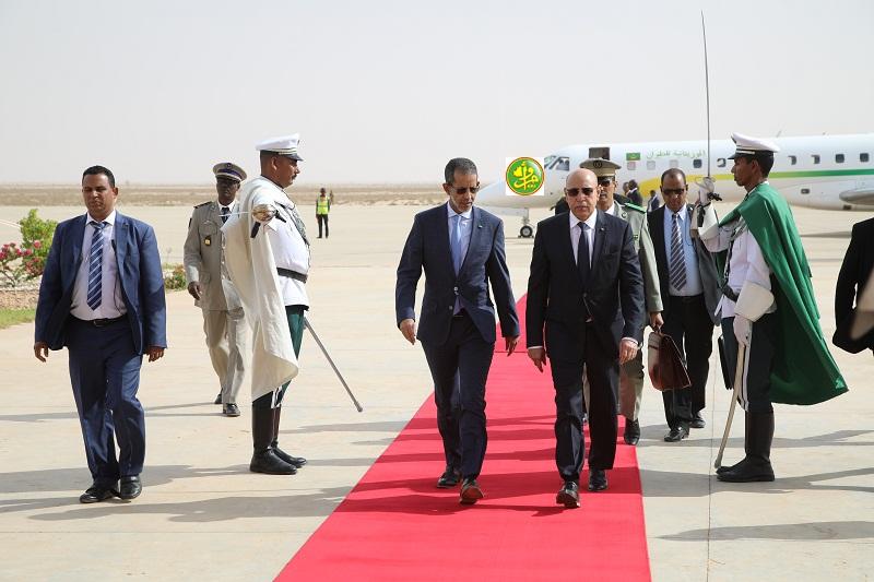 ولد الغزواني في مطار نواكشوط خلال عودته من سفر سابق (وما)