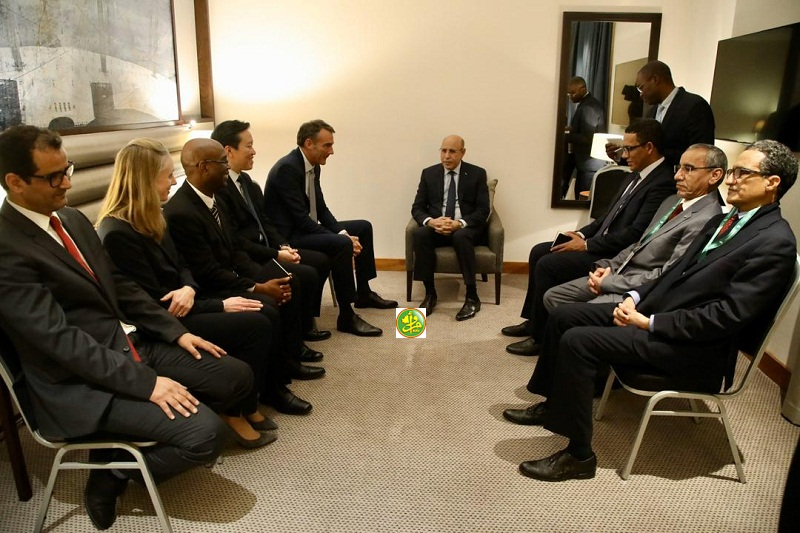 ولد الغزواني خلال لقائه مدير شركة BP الأحد في لندن (وما)