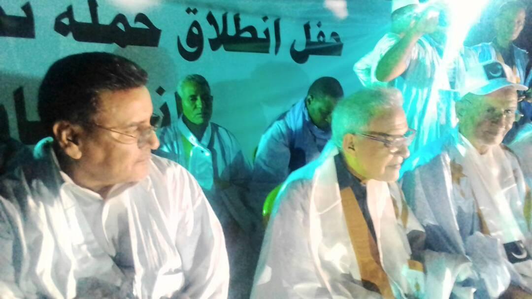 الرئيس أحمد ولد داداه أثناء مشاركته في مهرجان انطلاق الحملة الانتخابية لحزب التكتل