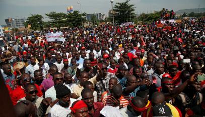 مسيرة في العاصمة باماكو ضد تعديل الدستور.