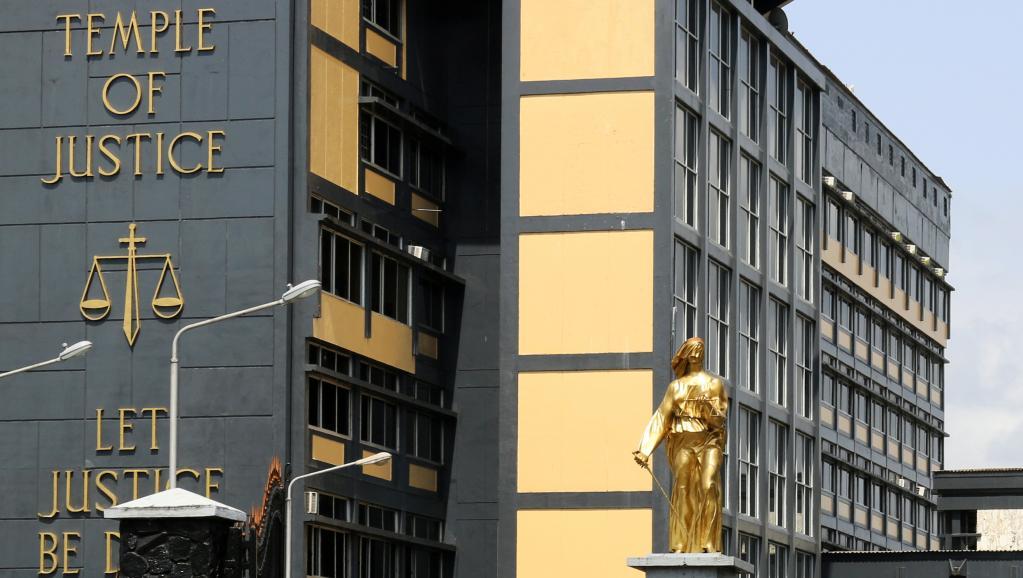 مبنى المحكمة العليا في العاصمة مونروفيا.