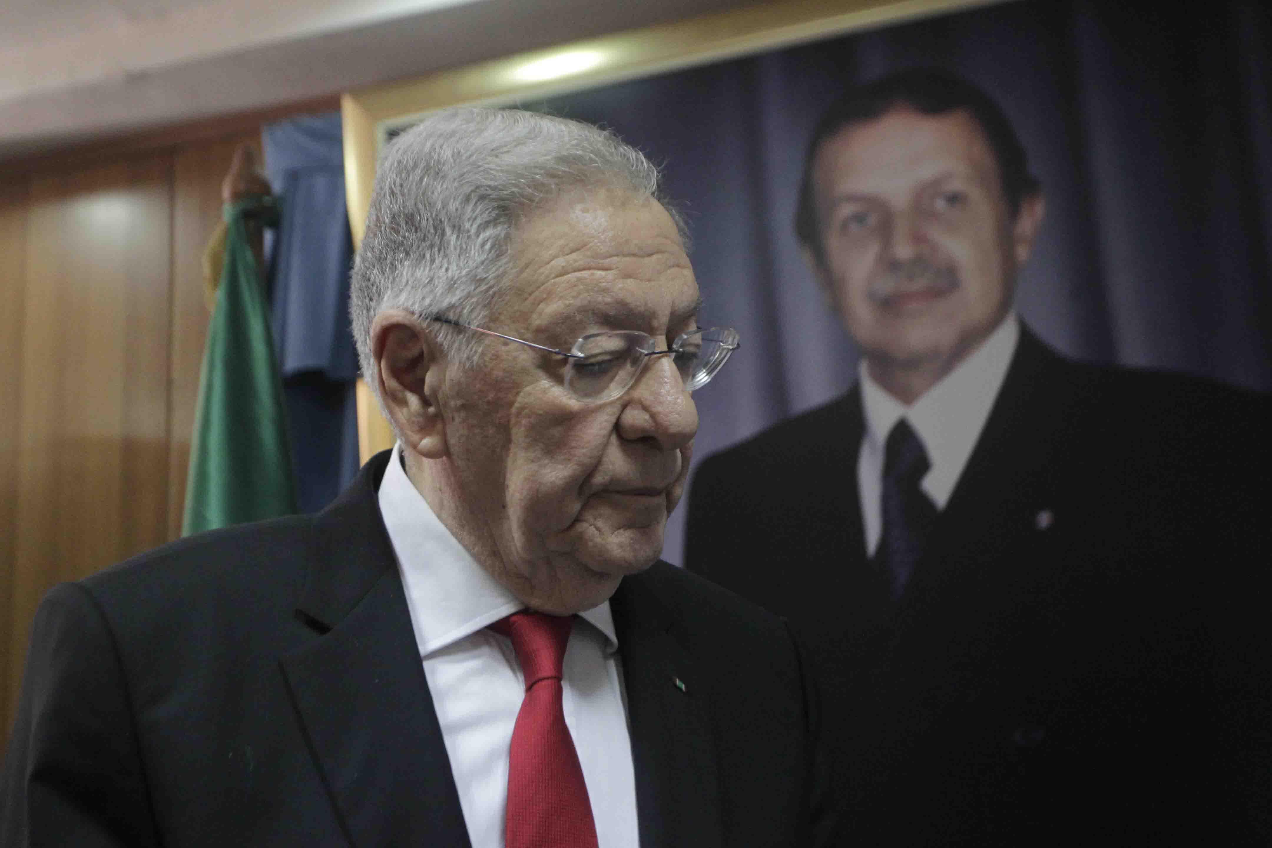 جمال ولد عباس: الأمين العام لحزب جبهة التحرير الوطني الحاكم بالجزائر.