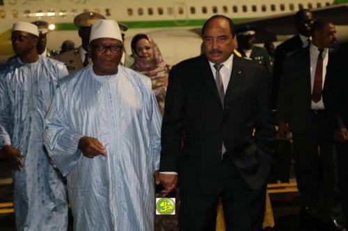 الرئيس الموريتاني ونظيره المالي.