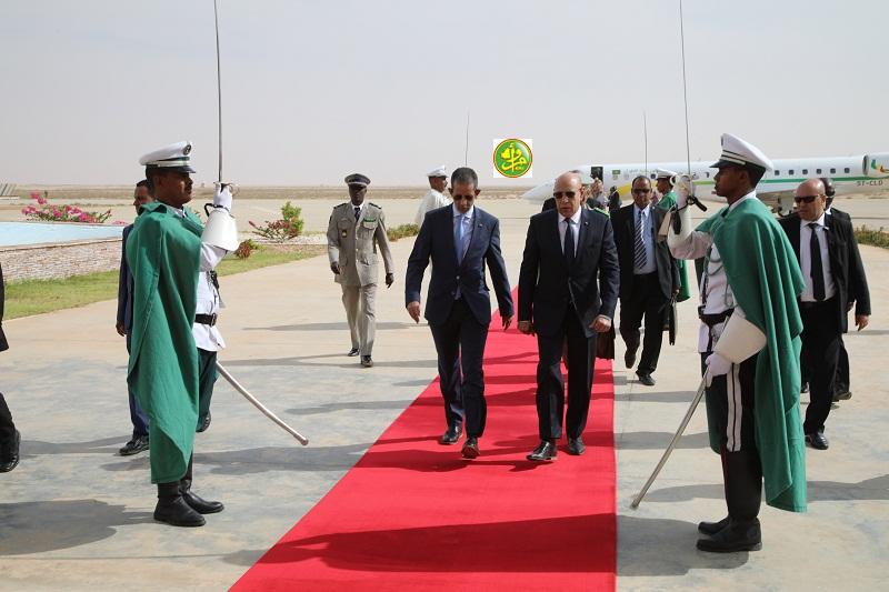 ولد الغزواني في مطار نواكشوط عائدا من مدينة سيلبابي عاصمة ولاية كيدماغا (وما)