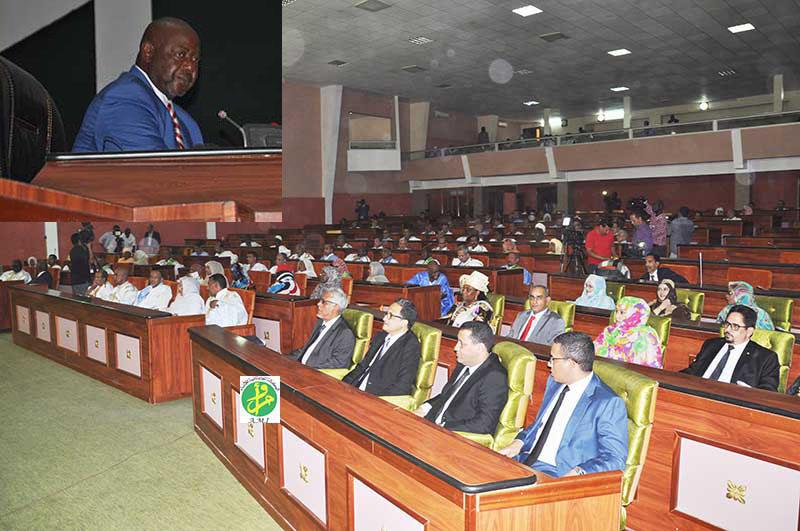 قاعة البرلمان خلال افتتاح الدورة البرلمانية الجديدة اليوم (وما)