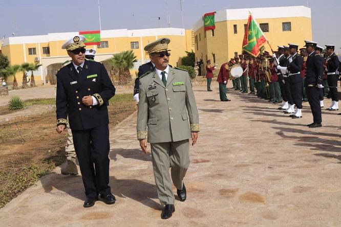قائد الأركان العامة للجيوش خلال حضوره احتفالية البحرية الموريتانية