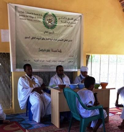 منصة الأسبوع الثقافي في قرية الصفا بالحوض الغربي