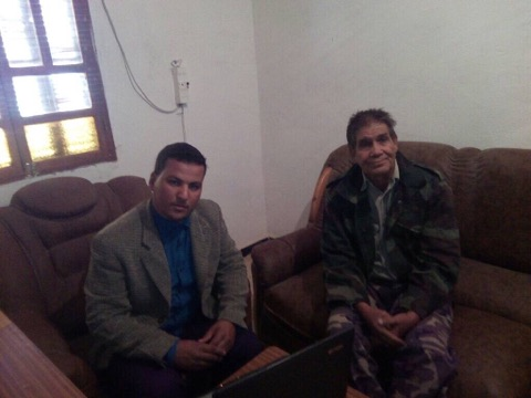 وزير الدولة الصحراوي يتحدث لمراسل الأخبار بتيندوف