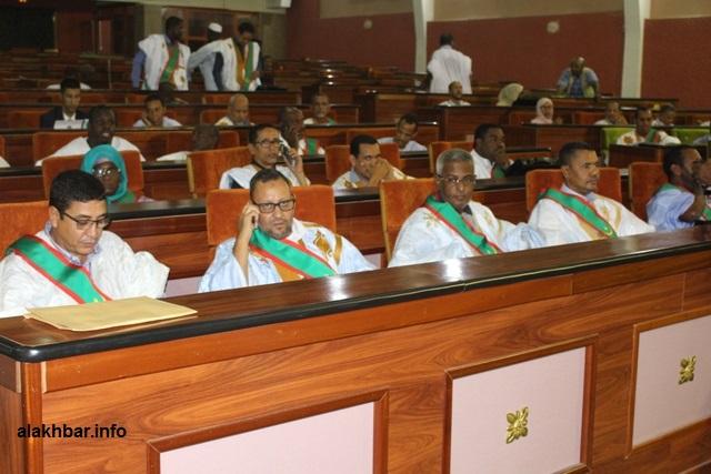نواب في البرلمان الجديد خلال أول جلسة له (الأخبار - أرشيف)