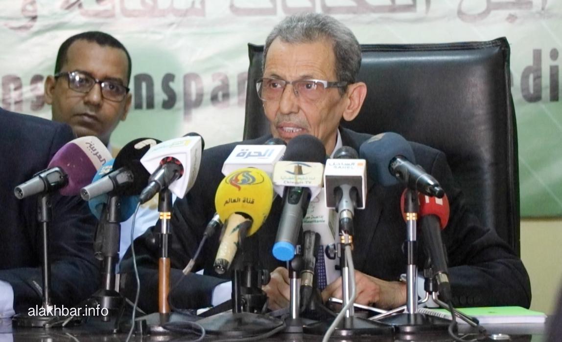 رئيس اللجنة الوطنية المستقلة للانتخابات محمد فال ولد بلال ـ (الأخبار)