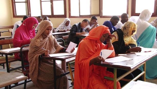 تلاميذ داخل أحد الفصول الدراسية بموريتانيا