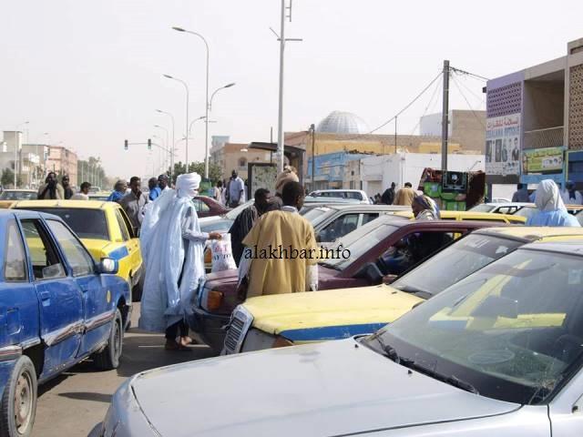 سيارات أجرة في أحد شوارع نواكشوط