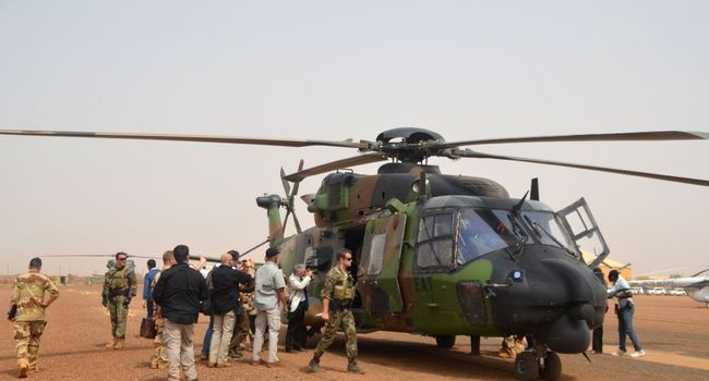 فرقة من القوات الأممية بمطار مدينة غاو في 25 يوليو 2017.