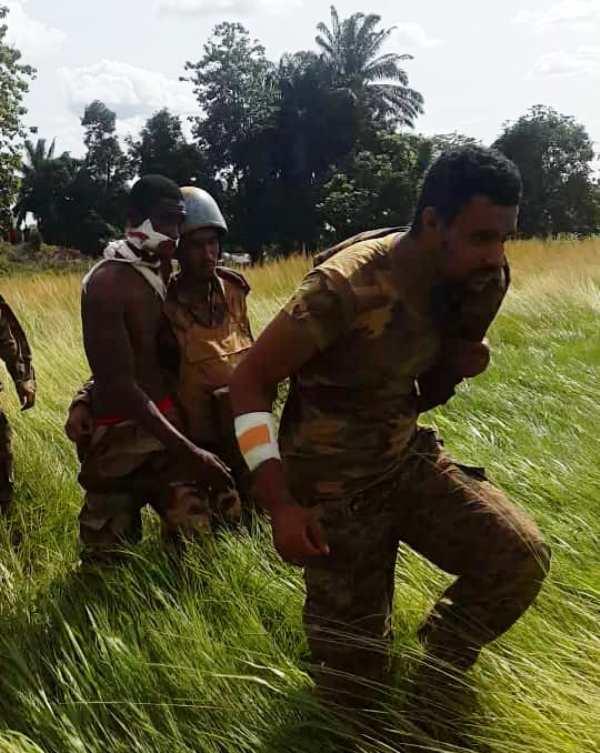 """جنود من الكتيبة الموريتانية أصيبوا خلال إحدى هجمات مليشيا """"أنتي بلاكا"""" المسيحية"""