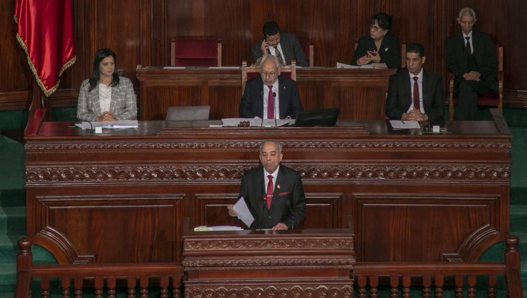 رئيس الحكومة لحبيب الجملي قدم حكومته أمام البرلمان بعد أسابيع من المشاورات لكنه النواب رفضوا منحها الثقة