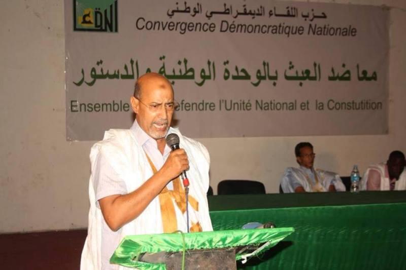 وزير الاقتصاد والتنمية السابق والقيادي في حزب اللقاء الديمقراطي محمد ولد عابد