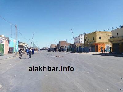 جانب من واجهة شارع النمروات أمس في نواذيبو/ الأخبار