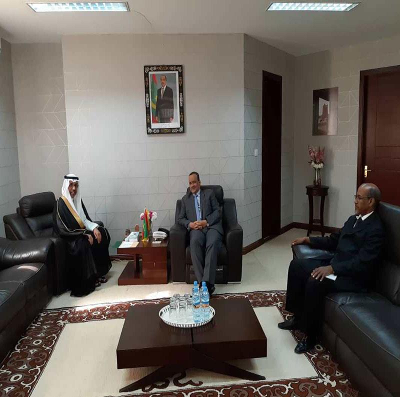 وزير الخارجية الموريتاني إسماعيل ولد الشيخ أحمد خلال لقائه مع السفير السعودي اليوم (وما)
