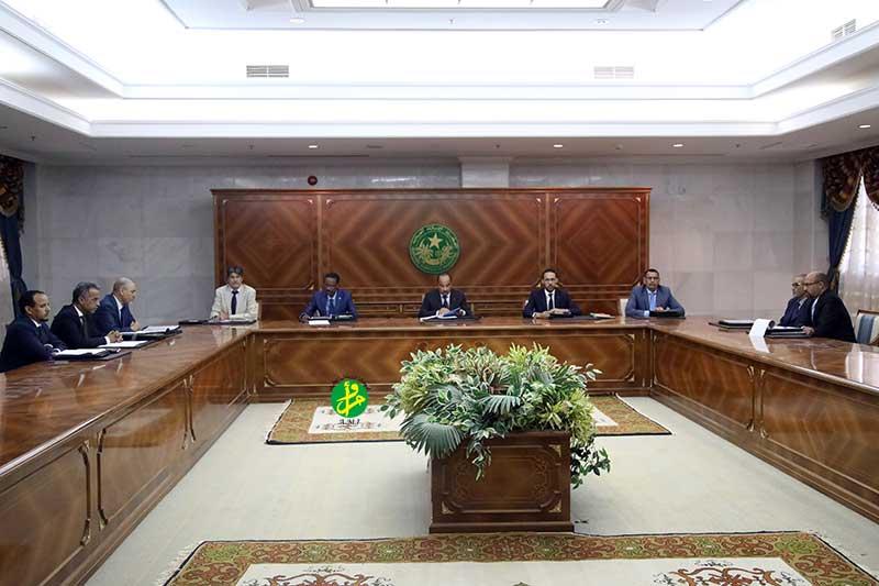 المجلس الأعلى للقضاء خلال اجتماعه اليوم بالقصر الرئاسي (وما)