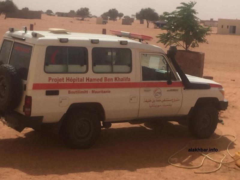 سيارة البعثة الصحية القادمة من بوتلميت لإجراء تحليل لتشخيص الإصابات (الأخبار)