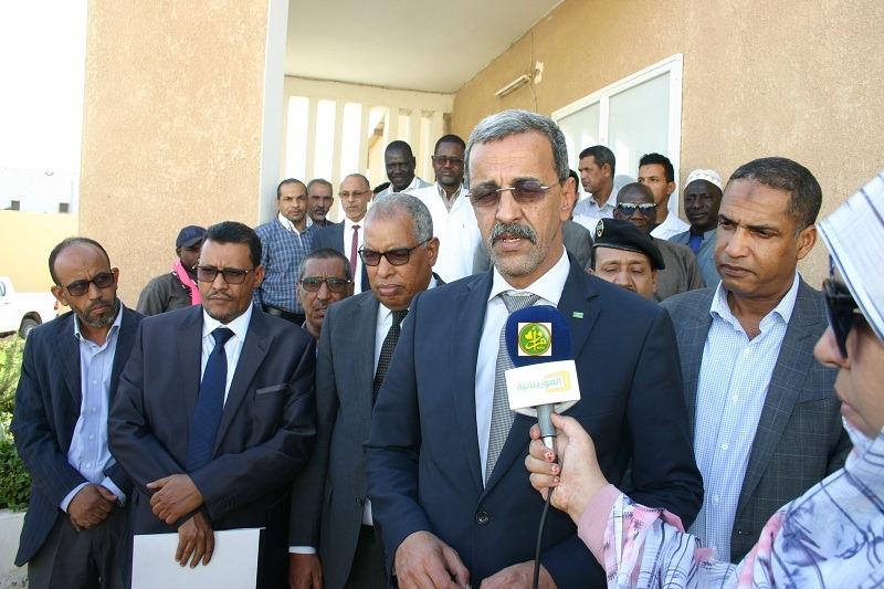 وزير التنمية الريفية الدي ولد الزين خلال تصريحه بعيد انتهاء جولته في عدد من الإدارات التابعة لقطاعه (وما)