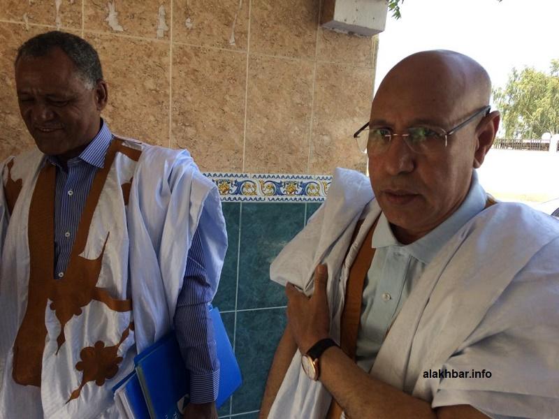 المرشح ولد الغزواني في مدخل المجلس الدستوري بالعاصمة نواكشوط (الأخبار)
