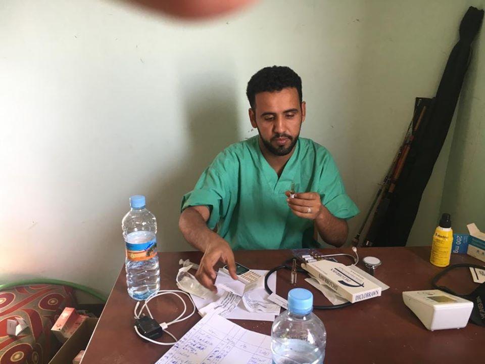 لأمين العام للنقابة الوطنية للصحة العمومية عبد الله جدنا نشر هذه الصورة مع تدوينته