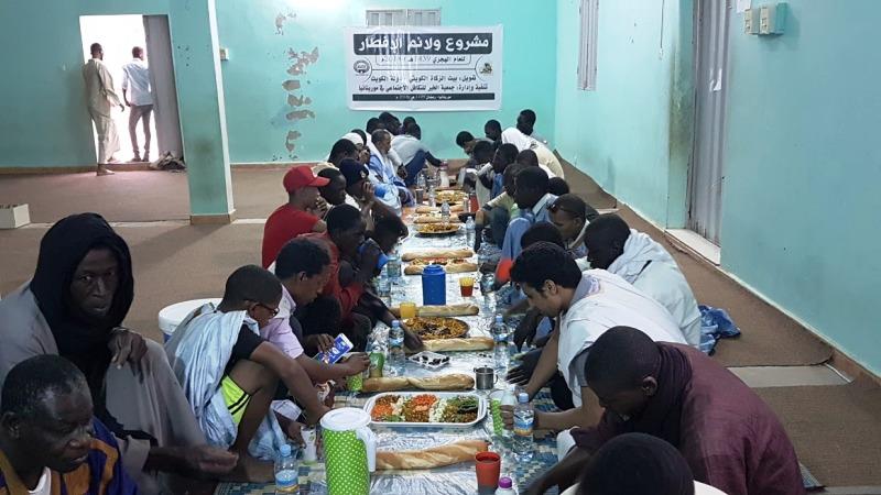أحد إفطارات الجمعية خلال الشهر الكريم
