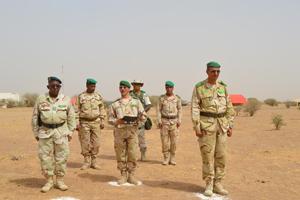 حفل تبادل قيادة كتيبة الموريتانية في القوة المشتركة لدول مجموعة دول الساحل الخمس G5