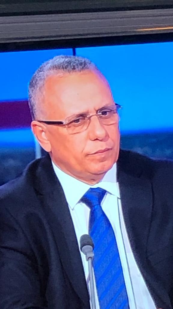 """رئيس اللجنة الوطنية لحقوق الإنسان الأستاذ أحمد سالم ولد بوحببني خلال مقابلته مع """"فرانس 24"""""""
