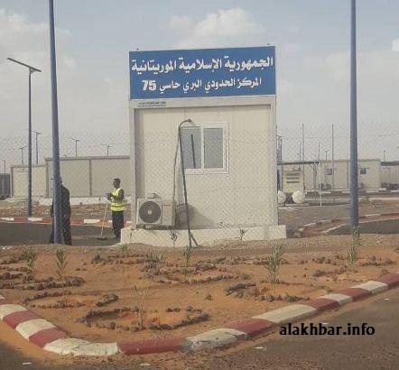 المعبر الحدودي بين موريتانيا والجزائر
