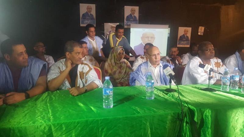 المرشح الرئاسي محمد ولد الغزواني خلال جولته في منسقيات حملته بنواكشوط