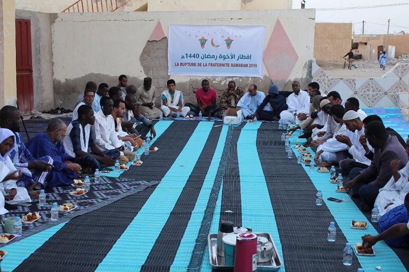 إفطار الأخوة مساء اليوم في ساحة مسجد حمزة بمقاطعة الميناء بولاية نواكشوط الجنوبية