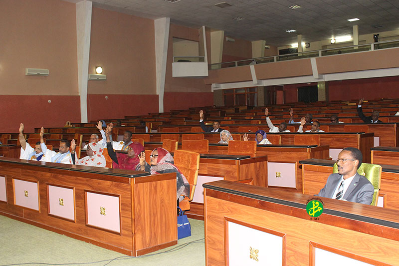 البرلمان الموريتاني خلال جلسة سابقة له (وما)