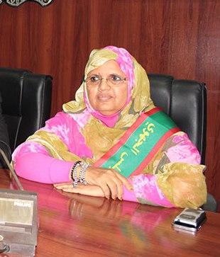 رئيسة المجلس الجهوي لنواكشوط فاطمة بنت عبد المالك